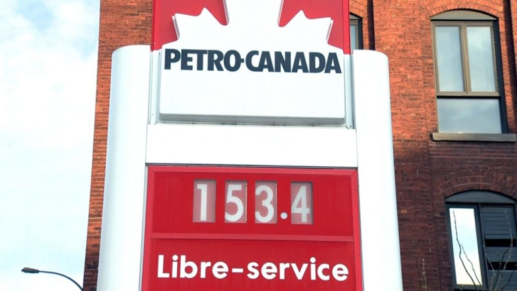 Gas prices soar to 153.4 cents per litre in some parts of Canada.