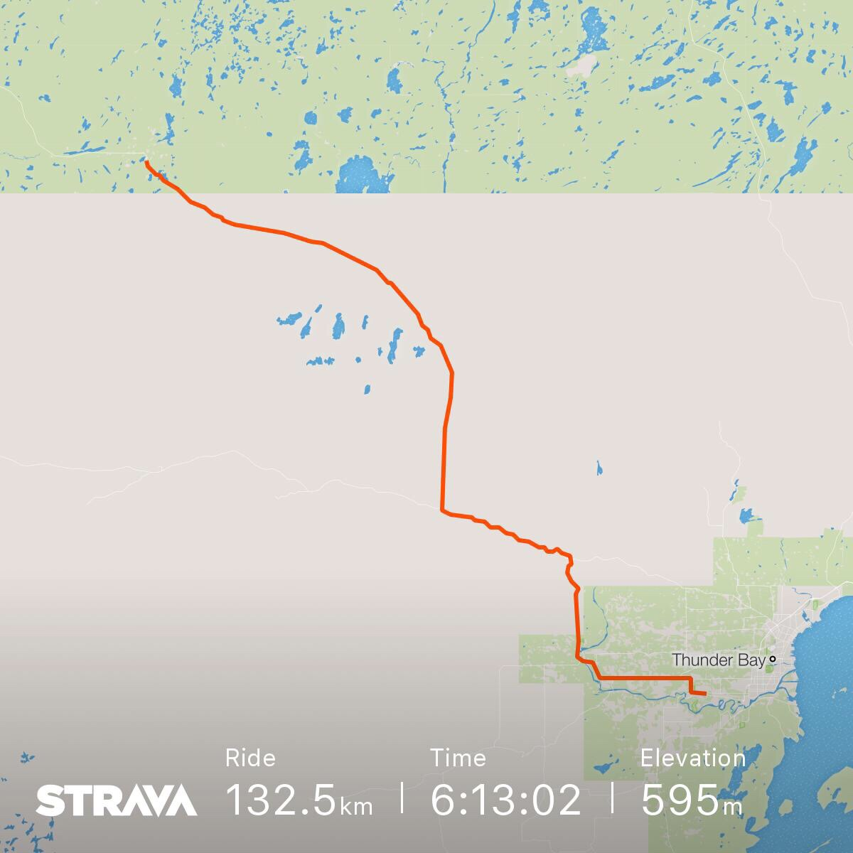 A map of today's ride